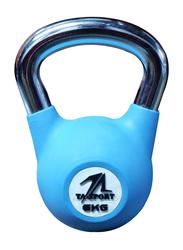 TA Sports Rubber Coated Kettlebell, 6KG, Sky Blue
