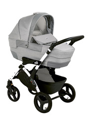 Cam Mod. Rover + Telaio Dinamico Up Travel System Baby Stroller, Grey/Silver