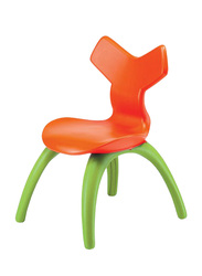 Kids Chair, Orange/Green