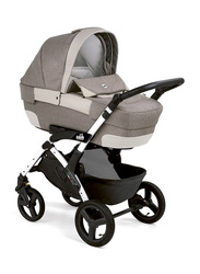 Cam Mod. Rover + Telaio Dinamico Up Travel System Baby Stroller, Beige/Silver