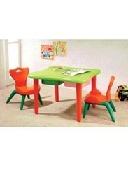 Children's Table with 2 Drawers, Green