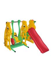 Rabbit Slide and Ladybug Swing with Basketball Set, 137cm, Ages 1.5+