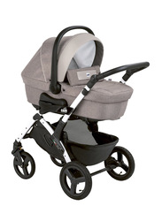 Cam Mod. Smart + Telaio Dinamico Up Baby Stroller, Beige/Silver