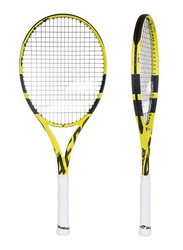 """Babolat Pure Aero Tennis Racket, With Strings, L1 (4 1/8""""), Yellow"""