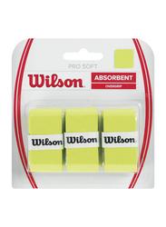 Wilson Advantage Absorbent Overgrip Set for Tennis Racket, 3 Piece, Lime
