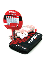 Karakal KTT 50 Two Table Tennis Racket Set, Multicolor