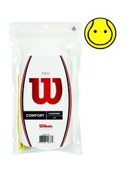 Wilson Pro Comfort Overgrip Set for Tennis Racket, 30 Piece, White