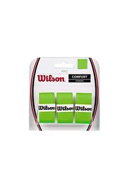 Wilson Pro Comfort Overgrip Set for Tennis Racket, 3 Piece, Green