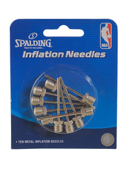 Spalding Basketball Inflation Needle Set, 10-Piece, Silver