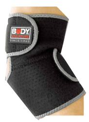 Body Sculpture Elbow Support with Terry Cloth, Black