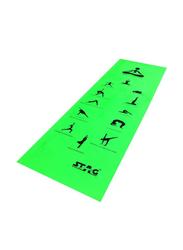 Stag Asana Printed Yoga Mat, 4mm, Green