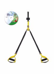 Body Sculpture Total Body Suspension Trainer, Yellow/Black