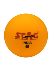 Stag Seam Table Tennis Ball Set, 40mm, 12 Pieces, Orange