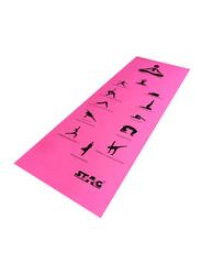 Stag Asana Printed Yoga Mat, 6mm, Pink