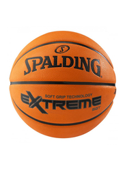 Spalding Extreme Soft Grip Outdoor Basketball Ball, Size 7, Brown