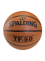 Spalding TF-50 Outdoor Basketball Ball, Size 7, Brown
