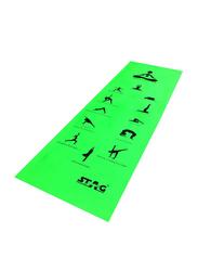 Stag Asana Printed Yoga Mat, 6mm, Green