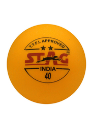 Stag Two Star Table Tennis Set, 40mm, 12 Pieces, Orange
