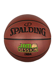 Spalding Jam Session Brick Composit Basketball Ball, 29.5 inch, Brown