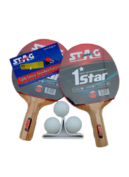 Stag 1 Star Table Tennis Playset, 5 Pieces, Multicolor