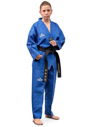 Daedo Size 5 WTF Seoul Style Dobok with Black Collar, Blue