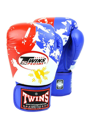 Twins Special 12oz FBGV-44UK Flag of Philippines Fancy Boxing Gloves, Red/White/Blue