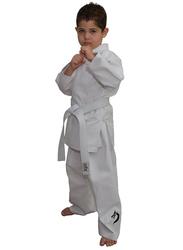 Tatsu Dragon 1/140 Karate Uniform with Black Dragon Print, White
