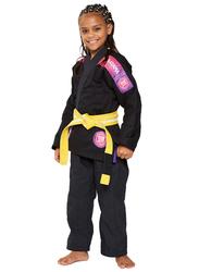 Atama M2 Ultra Light Kids Kimono for Girls, Black/Pink