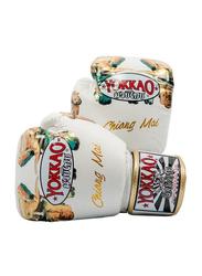 Yokkao 10oz Save The Elephants Printed Chiang Mai Gloves, White
