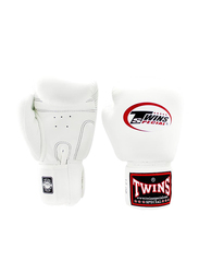 Twins Special 14oz BGVL3 Boxing Gloves, For Boxing/Muay Thai/MMA, White