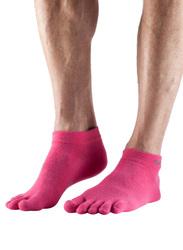 Toesox Ultralite Ankle Height Socks, Medium, Pink