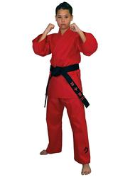 Tatsu Dragon 3/160 Karate Uniform with White Belt, Red