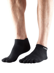 Toesox Ultralite Ankle Height Socks, Extra Large, Black