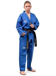 Daedo Size 2 WTF Seoul Style Dobok with Black Collar, Blue