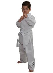 Tatsu Dragon 0000/100 Karate Uniform with Black Dragon Print, White
