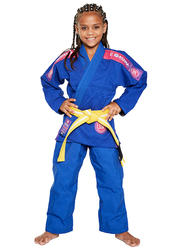 Atama M1 Ultra Light Kids Kimono for Girls, Blue/Pink