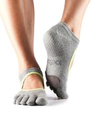 Toesox Full Toe Plie Socks, Extra Small, Heather Grey