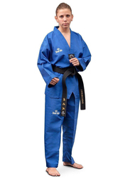 Daedo Size 4 WTF Seoul Style Dobok with Black Collar, Blue