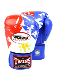 Twins Special 14oz FBGV-44UK Flag of Philippines Fancy Boxing Gloves, Red/White/Blue