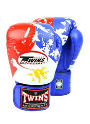 Twins Special 10oz FBGV-44UK Flag of Philippines Fancy Boxing Gloves, Red/White/Blue