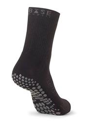 Base Grip Crew Socks, Large, Black
