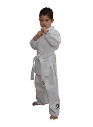 Tatsu Dragon 7/200 Karate Uniform with Black Dragon Print, White