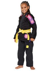 Atama M1 Ultra Light Kids Kimono for Girls, Black/Pink