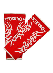 Yokkao Large Tribal Muay Thai Ankle Guards, Red