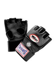 Twins Special Medium GGL4 Grappling Gloves, Black