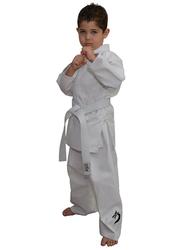 Tatsu Dragon 5/180 Karate Uniform with Black Dragon Print, White