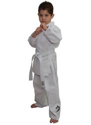 Tatsu Dragon 2/150 Karate Uniform with Black Dragon Print, White
