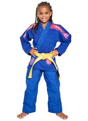 Atama M3 Ultra Light Kids Kimono for Girls, Blue/Pink
