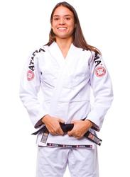 Atama F1 Gi Mundial Kimono for Women, White/Black