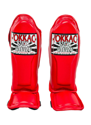 Yokkao Extra Small SYGPK-V-2 Vertigo Kids Martial Arts Shin Guards, Red